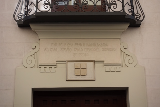 Placa de la Casa de Ivan de Vargas