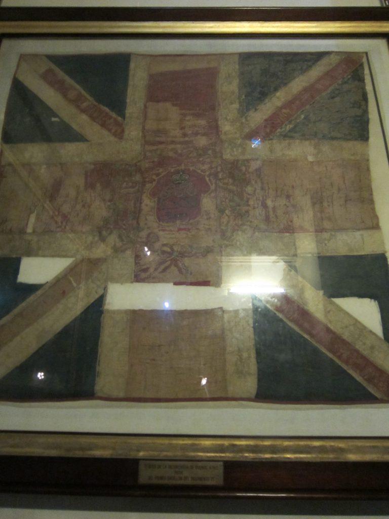 Bandera británica conservada en el Convento de Santo Domingo, San Telmo