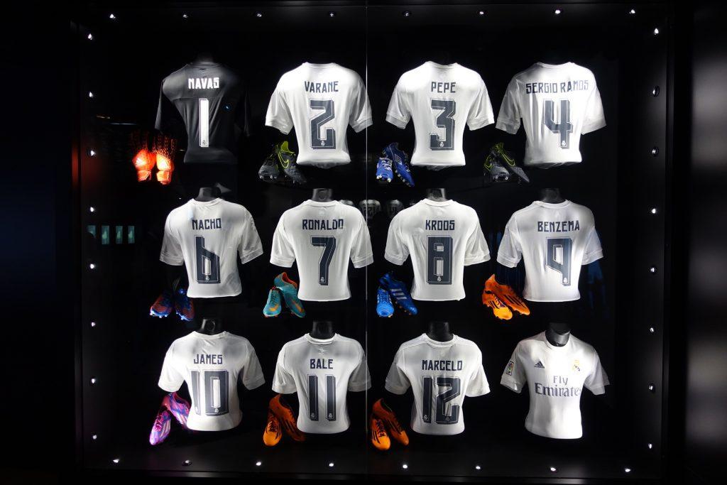 Camisetas del equipo actual