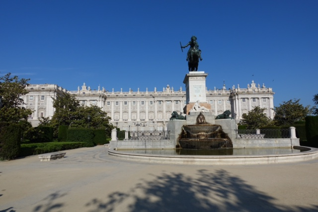 Fachada del Palacio Real