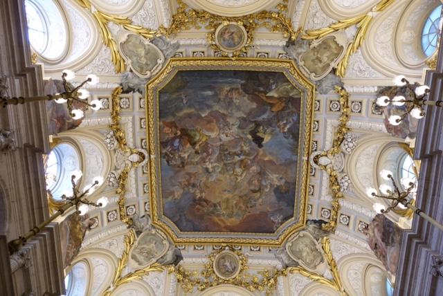 Fresco de la escalera de honor del Palacio Real