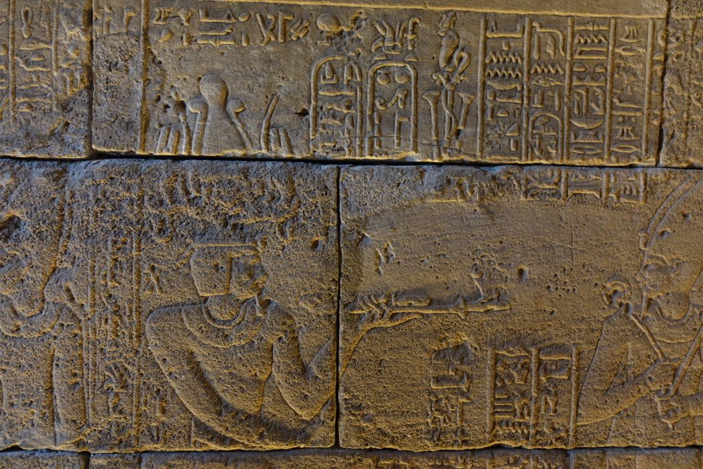 Jeroglíficos, Templo Debod