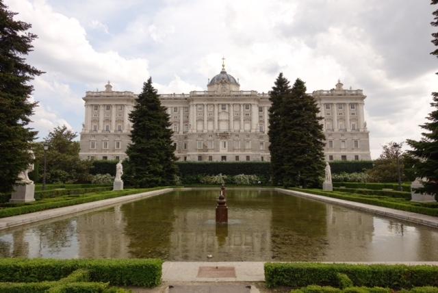 Palacio Real visto desde los Jardines de Sabatini