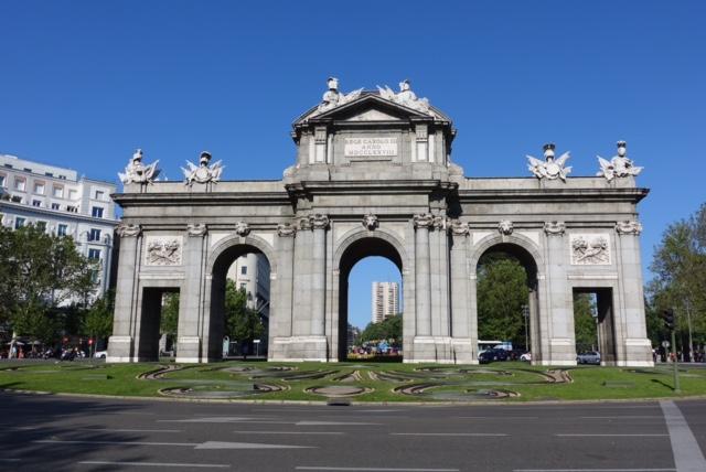 Puerta de Alcalá, fachada oeste o interior