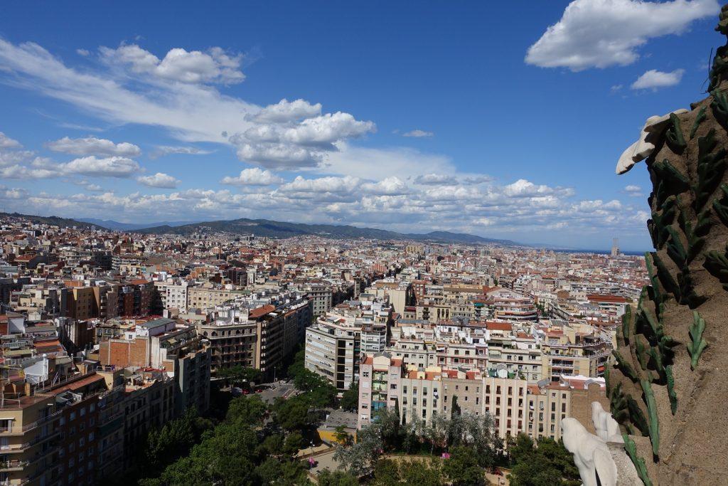 Barcelona - Sagrada Familia, vistas panorámicas de Barcelona desde la Torre del Nacimiento