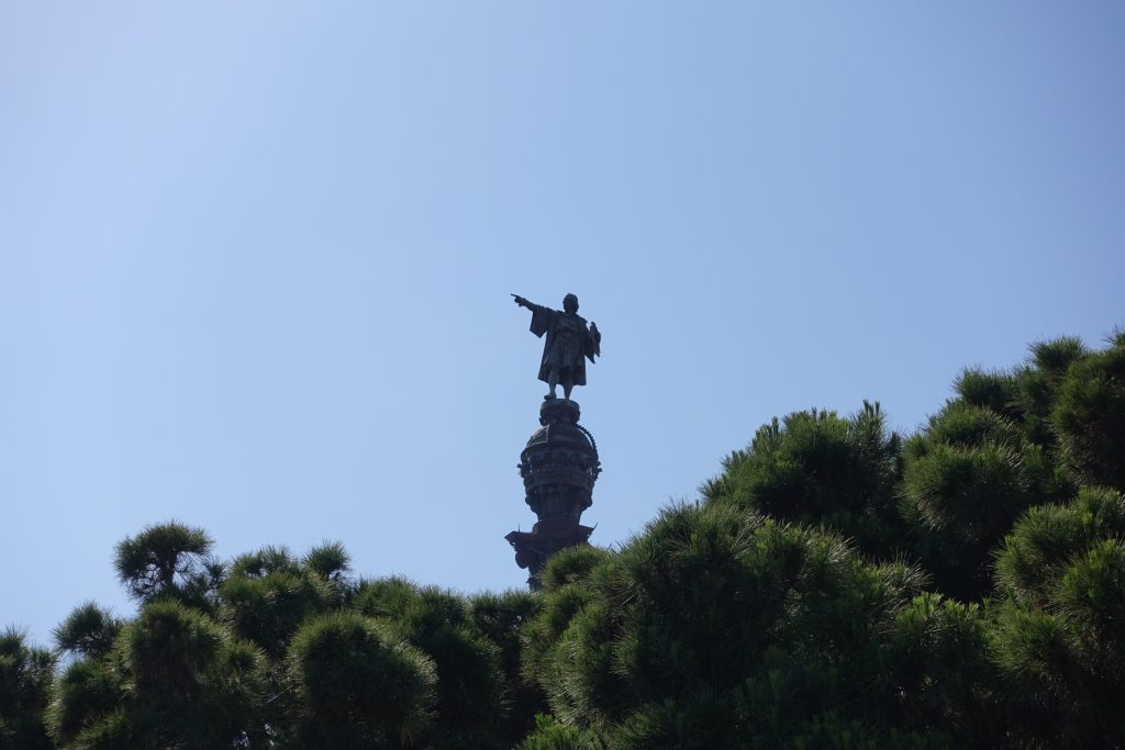 Barcelona - Estatua de Cristóbal Colón desde La Rambla