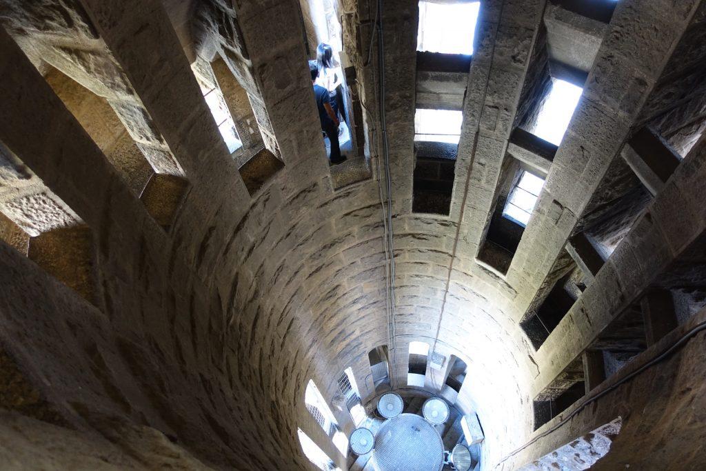 Barcelona - Sagrada Familia, interior de la Torre del Nacimiento