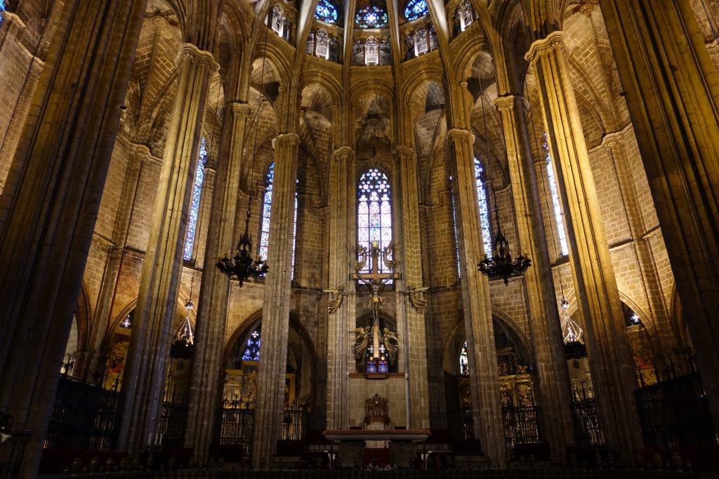 Interior de la Catedral de Barcelona, Barrio Gótico