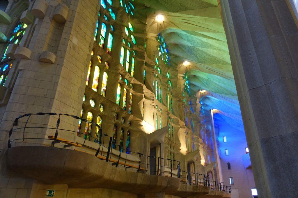 Barcelona - Sagrada Familia, ventanales de colores