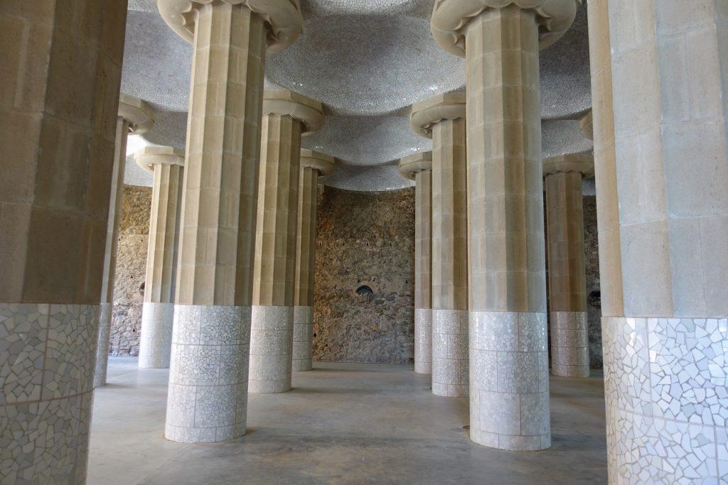 Park Güell - Sala Hipóstila o Sala de las Columnas