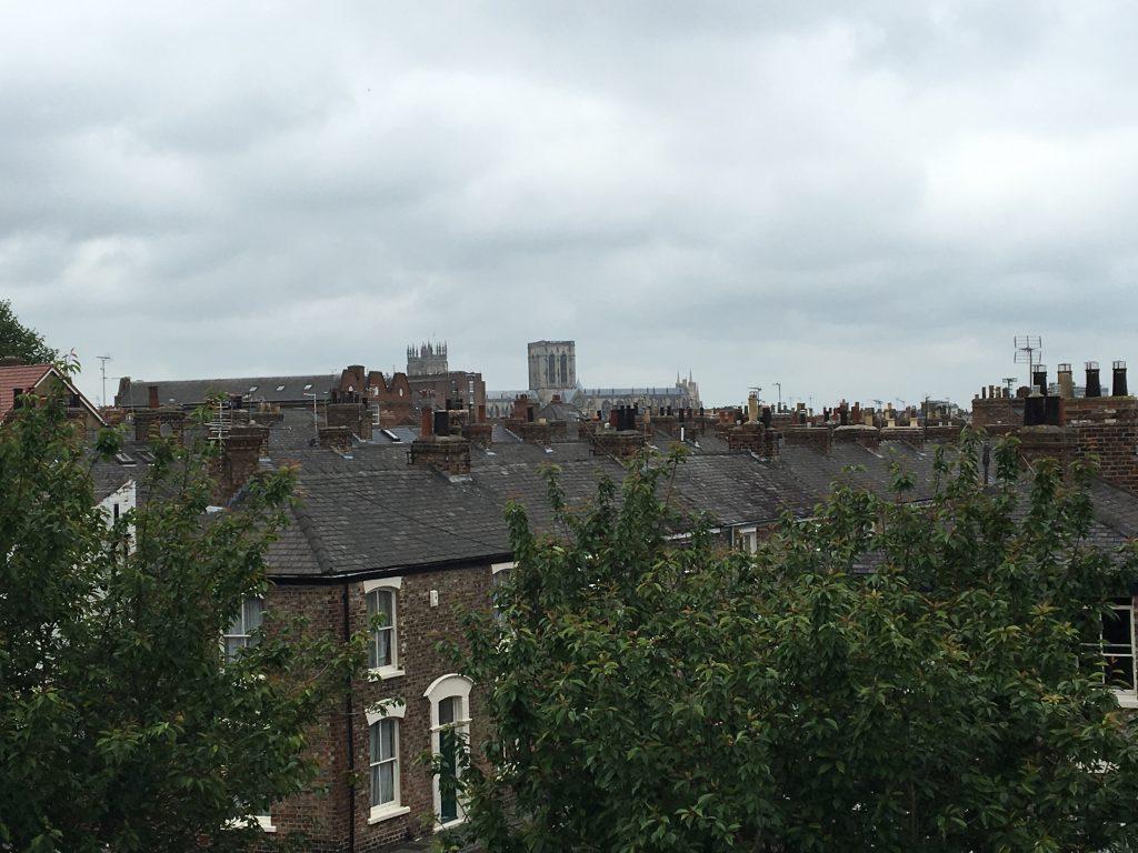 Caminar sobre las murallas de York