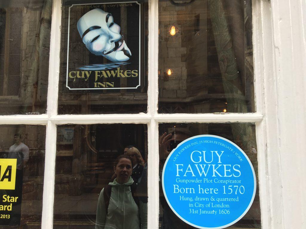 Guy Fawkes en York, Inglaterra