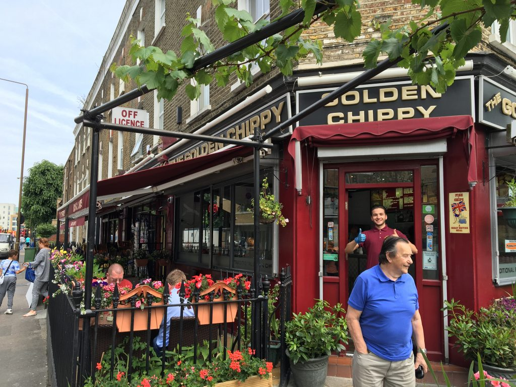 Londres - Fish&Chips en Golden Chippy, Greenwich