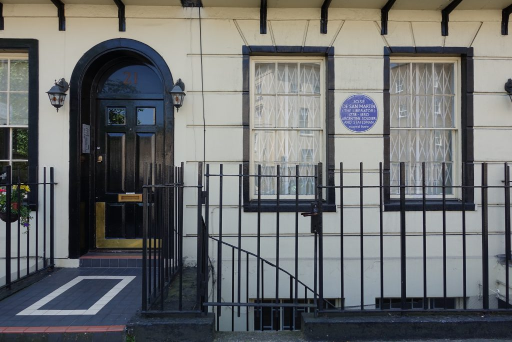 Londres - Casa donde vivió San Martín