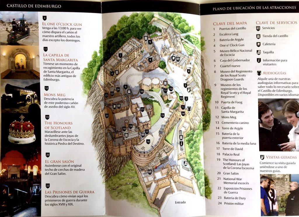 Edimburgo - Plano del Castillo