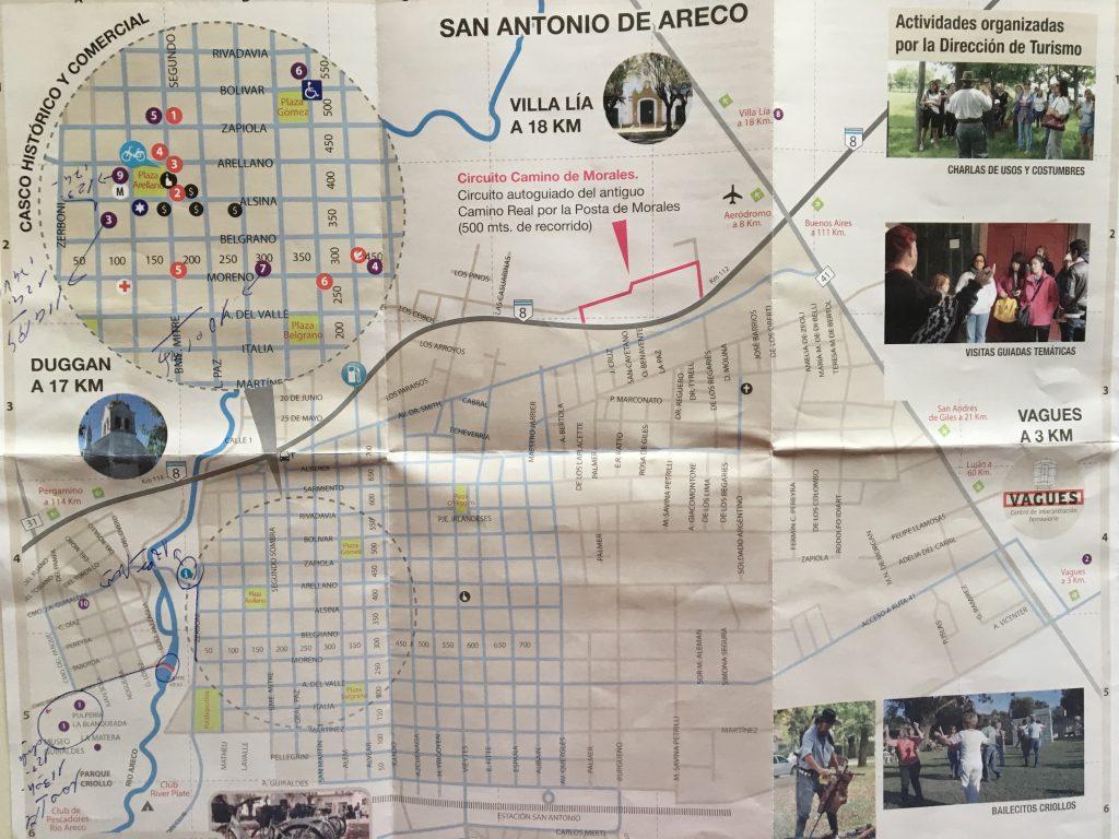 San Antonio de Areco - Mapa de la ciudad